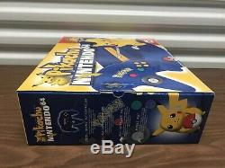 NEW Nintendo 64 N64 Pikachu Pokemon Game Console CIB Super Rare Box Set Variant