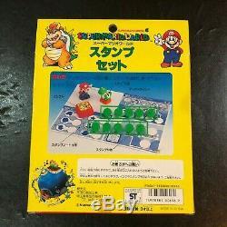 NINTENDO Super Mario World Vintage Mario Yoshi STAMP Figure Set JAPAN RARE