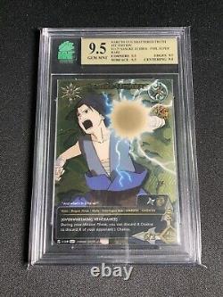 Naruto CCG Sasuke Uchiha Set 21 1st Ed Super Rare Card MNT 9.5 GEM MNT
