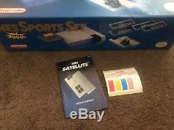 Nintendo NES Sports Set BOX ONLY action PRISTINE super snes System Console RARE