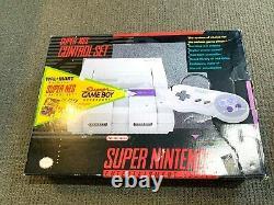 Nintendo SNES Super Set Console Original Box & Styrofoam Insert RARE WAL MART