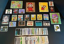 Nintendo Stickers Complete 276 Card Set 1992 Merlin Super Mario Bros. Rare NES