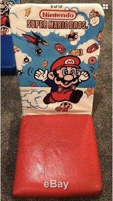 Nintendo Super Mario Bros Vintage Chair Set New. 1989. Rare