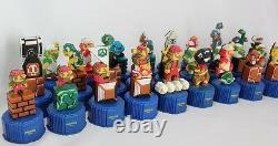 Nintendo Super Mario Luiji Bros Pepsi Cap Figure 30 Set Mascot Rare Stock L/E