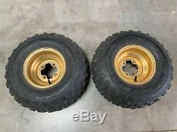 OEM 1986 Yamaha YTZ250 Tri-Z Dunlop Tires and Gold Wheels! Super rare set! Nice