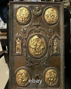 Old church religious book. Book cover Super BIG & RARE Huge gospel setting