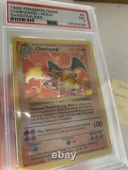 PSA 7 Shadowless Charizard Pokemon Card Base Set #4/102
