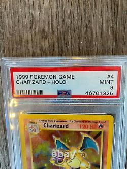 PSA MINT 9 CHARIZARD HOLO 1999 POKEMON TCG Base Set #4/102 100% Authentic