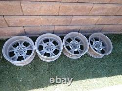 Parnelli Jones Rebel Wheels 15x6 Aluminum Rims Ford Mopar 5 on 4.5 Set of 4 RARE