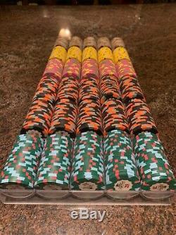 Paulson World Top Hat & Cane Chip set. Casino Grade Poker Chips SUPER RARE