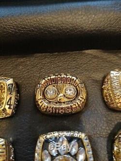 Pittsburgh Steelers Super Bowl Championship Rings Full Set Replica 6 Rings rare