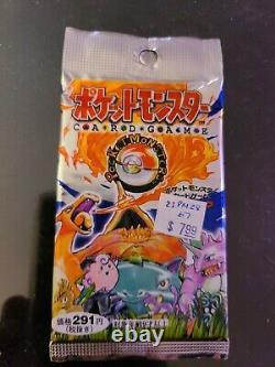 Pokemon Japanese Sealed Booster Pack Base Set Super Rare Heavy 16.80