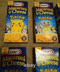 Pokemon Macaroni and Cheese Set of 6 VIntage super rare set Factory Sealed