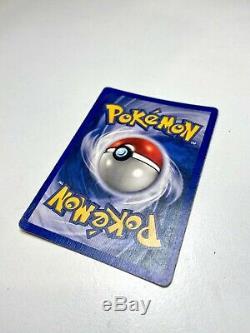 Pokemon No Damage Error Ninetales, super rare misprint base set shadowless Holo