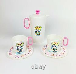 Polly Pocket Kid Teapot Tea Cups Saucer Plate Party Set Super Rare Merchandise