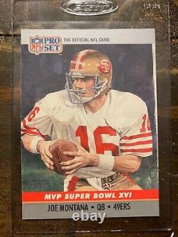 RARE JOE MONTANA 1990 Pro Set Super Bowl XVI MVP Card