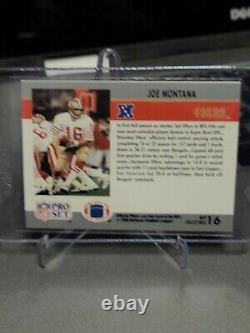 RARE JOE MONTANA 1990 Pro Set Super Bowl XVI MVP Card 49ers