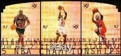 RARE Michael Jordan = 1997/98 UD3/MJ3, 3-Card SP Die-Cut Set (SUPER NICE!)