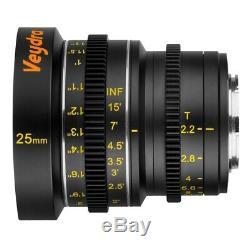RARE & NEW! Veydra Mini Prime 4 Lens Super Set M43 Imperial (Feet)