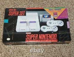 RARE WALMART Original Super Nintendo SNES Super Set BOX, STYROFOAM, POSTER ONLY