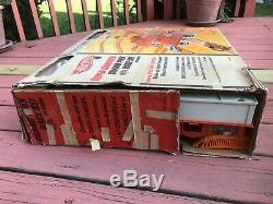 Rare 1968 Mattel Super Charger Grand Prix Race Set in Box w /4 Original Red Line
