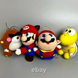 Rare 1992 Super Mario World 2 Nintendo Plush Toy Set of 4 vintage retro game
