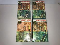 Rare Aurora 1971 Monster Scenes Models Set of 4 Super Nice Sealed Condition
