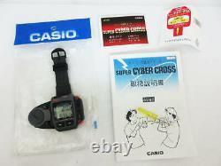 Rare CASIO Vintage JG-100 JG-200 Super Cyber Cross Game Watch Set