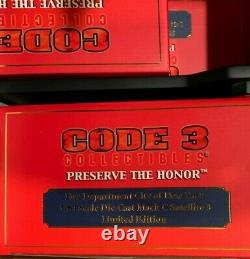 Rare Code 3 FDNY Super Pumper System Set with Display Shelf Mint