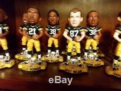 Rare Complete 15 figure Bobble head set GREEN BAY PACKERS Super Bowl 45 XLV