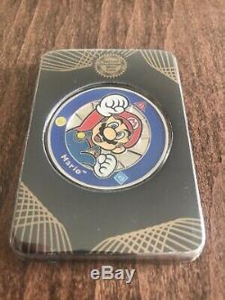 Rare Officially Licensed Super Mario Challenge Coins Silver Set Nintendo Club