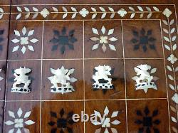Rare Ramayama Hand Carved Bone Figural Chess Set Complete Super Nice