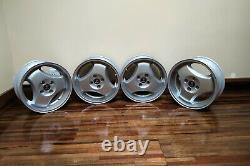 Rare Saab Classic 900 / 9000 Turbo 16 Super Aero Deep Dish Alloy Wheels Set x 4