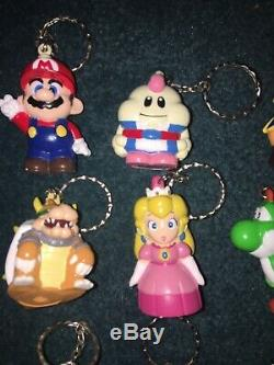 Rare Super Mario RPG Keychain Figure FULL Set Nintendo Geno Mallow 1995 Japan
