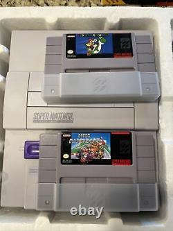 Rare Super Nintendo SNES Console Super Set Super Mario Kart Edition