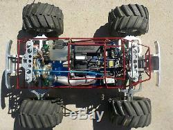 Rare Traxxas T-Maxx Truck with ACNCM Super Skeleton Conv. & CVD Set For Repair