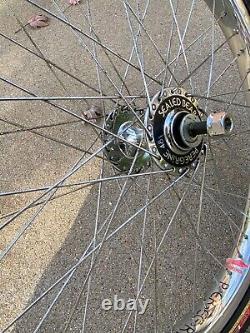 Rare Vintage 20 Peregrine Super HP-48's BMX Wheel Set Chrome Rims Sealed