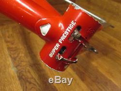 Rare Vintage Paletti Super Prestige Columbus Slx Steel Lugged Bike Frame Set 57