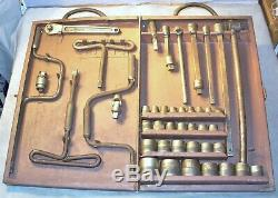 Rare Vtg 1926 Snap-On 45 Pc Super Service Set-1/2 & 5/8 Drive Socket Wrenches