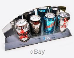 SUPER RARE 2004 Coca-Cola light Art can set ON DISPLAY NORWAY Norwegian Coke