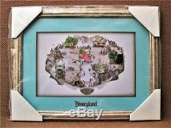 SUPER RARE LE 100 A Day @ Disneyland Framed Pin Set Alice Dumbo Mickey Toad Chip