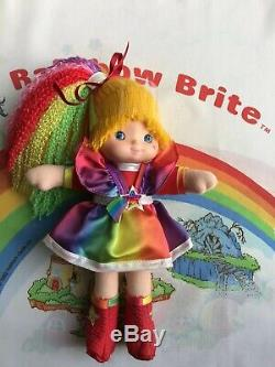 SUPER RARE RAINBOW BRITE COMPLETE DRESS UP DOLLS SET Mattel 1983