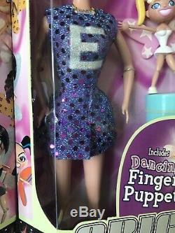 SUPER RARE Spice Girls Viva Forever Dolls Set Of 4 With Fairy Finger Puppets