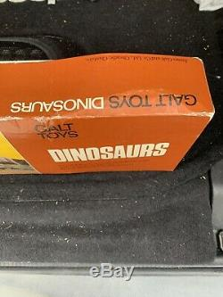 SUPER RARE Vintage British Museum Galt Toys Dinosaur Set CIB