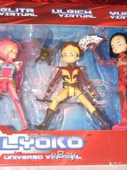 SUPER RARE set CODE LYOKO figures VIRTUAL William, Odd, Aelita, Ulrich, Yumi HTF