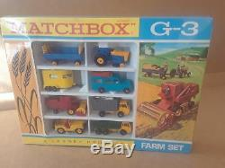 Sealed 1968 Matchbox Lesney Moko G-3 Farming Gift Set Jeep Super Rare