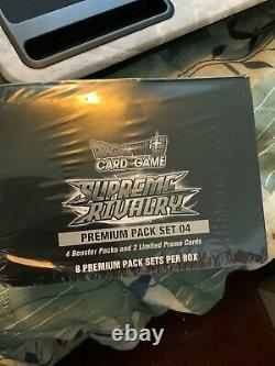 Sealed display of 8x Supreme Rivalry Premium Pack Set32 Packs Total Booster Box