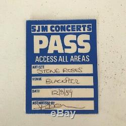 Set of FIVE Super Rare STONE ROSES Concert Tickets & Passes Inc. Glasgow Green