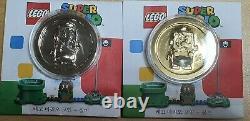 Set of LEGO SUPER MARIO COLLECTIBLE COIN GOLD AND SILVER COLOR Very RareNEW
