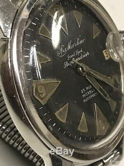 Skin Diver Watch La Martine 1960ca Full Set! Case Super Compressor Brevet, Rare